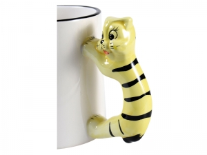 Cana cat mug handle