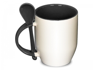 Color black spoon mug