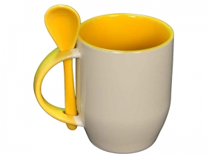 Color yellow spoon mug