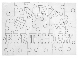 Puzzle happy birthday