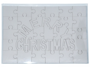 Puzzle merry christmas